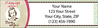 Vintage Housewife Return Address Label