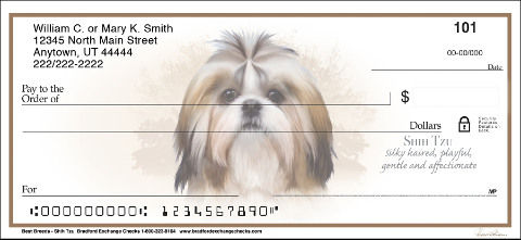 Best Breeds - Shih Tzu Personal Checks