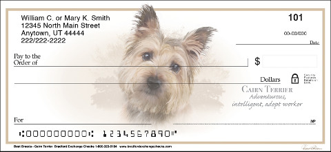 Best Breeds - Cairn Terrier Personal Check Designs