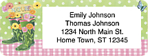 Gardening Boots Return Address Label