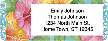 Hibiscus Return Address Label