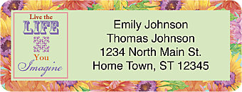 Floral Inspirations Return Address Label
