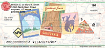 Retro Travel Personal Checks