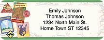 Retro Travel Return Address Label