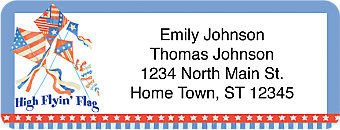 American Summer Return Address Label