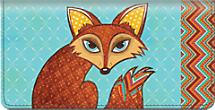Sly Fox Checkbook Cover