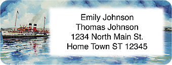 Steamboats Return Address Label