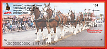 Budweiser Clydesdales Personal Checks