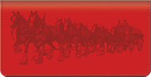 Budweiser Clydesdales Checkbook Cover