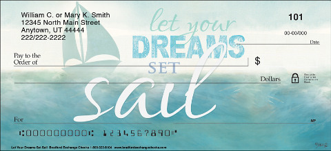 Let Your Dreams Set Sail Personal Checks
