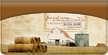 Faith Family Farming Checkbook Cover