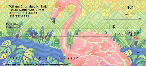 Flamingo Lagoon Personal Checks