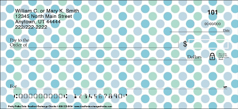 Pretty Polka Dots Personal Checks