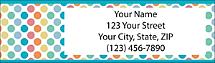 Pretty Polka Dots Return Address Label