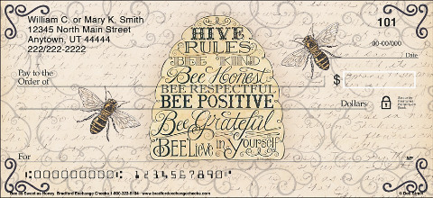 Bee as Sweet as Honey Personal Checks