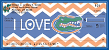 I Love Gators Chevron Personal Checks