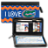 I Love Gators® Chevron Zippered Wallet Checkbook Cover