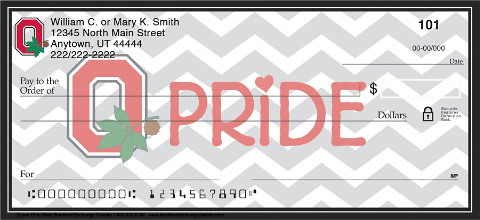 I Love Ohio State Chevron Personal Checks