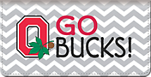 I Love Ohio State Chevron Checkbook Cover