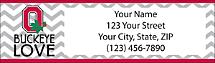 I Love Ohio State Chevron Return Address Label