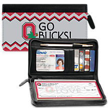 I Love Ohio State® Chevron Zippered Wallet Checkbook Cover