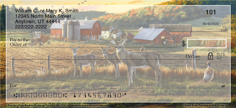 Deer on a Farm Personal Checks