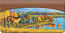 Deer on a Farm Checkbook Cover