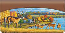 Deer on a Farm Checkbook Cover