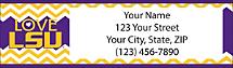 I Love LSU Chevron Return Address Label