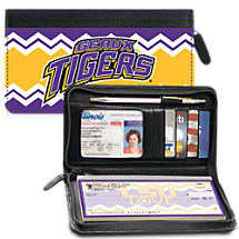 I Love LSU® Chevron Zippered Wallet Checkbook Cover