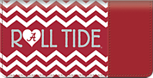 I Love Bama Chevron Checkbook Cover