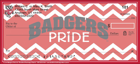 I Love Badgers Chevron Personal Checks