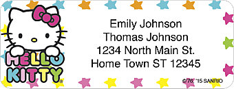 Hello Kitty® Colors Return Address Label