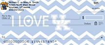 I Love Wildcats Chevron Personal Checks