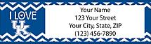 I Love Wildcats Chevron Return Address Label