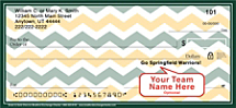 Green & Gold Chevron Personal Checks