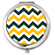 Green and Gold Chevron Compact
