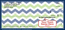 Blue & Green Chevron Personal Checks