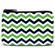 Blue and Green Chevron Coin Purse