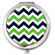 Blue and Green Chevron Compact