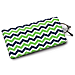 Blue and Green Chevron Eyeglass Case