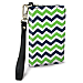 Blue and Green Chevron Small Wristlet Purse