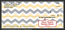 Black & Gold Chevron Personal Checks
