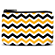 Black and Gold Chevron Coin Purse