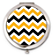 Black and Gold Chevron Compact