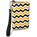 Black and Gold Chevron Small Wristlet Purse