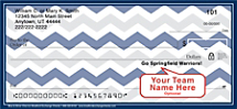 Blue & Silver Chevron Personal Checks