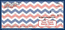 Blue & Red Chevron Personal Checks