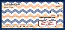 Blue & Orange Chevron Personal Checks