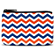 Blue and Orange Chevron Coin Purse